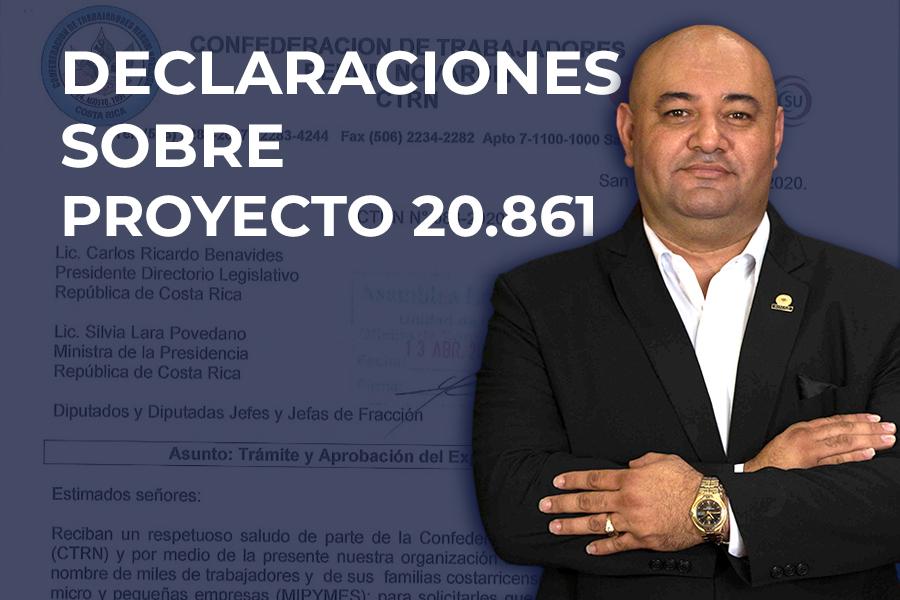 Declaraciones Lenin Hernández Navas sobre proyecto 20.861